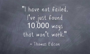 Thomas Edison quote about failure