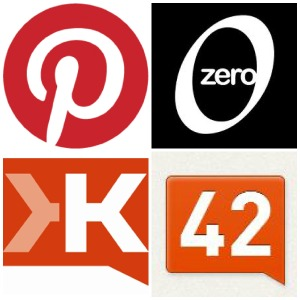 Klout and Pinterest Logos