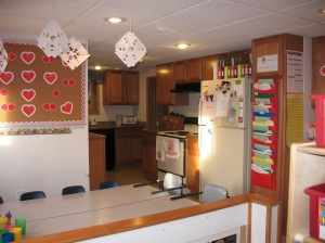 Awesome Beginnings Childcare Art/Dining and Kitchen