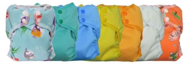 Today's cloth diapers come in a variety of types, styles, colors, and patterns.